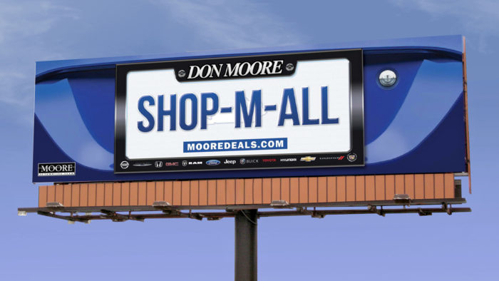 "Don Moore Outdoor Billboard - ""Shop-M-All"" Thumbnail"